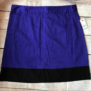 Laundry by Shelli Segal violet/ black skirt